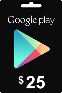 Google Play Gift Card 25 USD