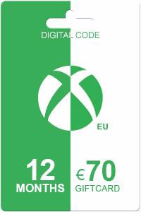 Xbox Live Gold 12 months + 70 euro