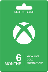 Xbox Live Gold 6 months